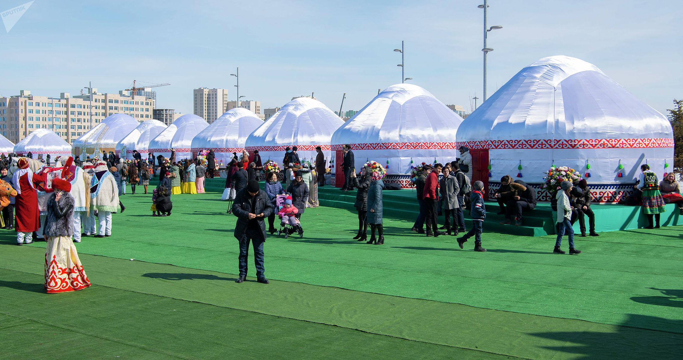 Этноаул на территории проведения выставки ЭКСПО-2017