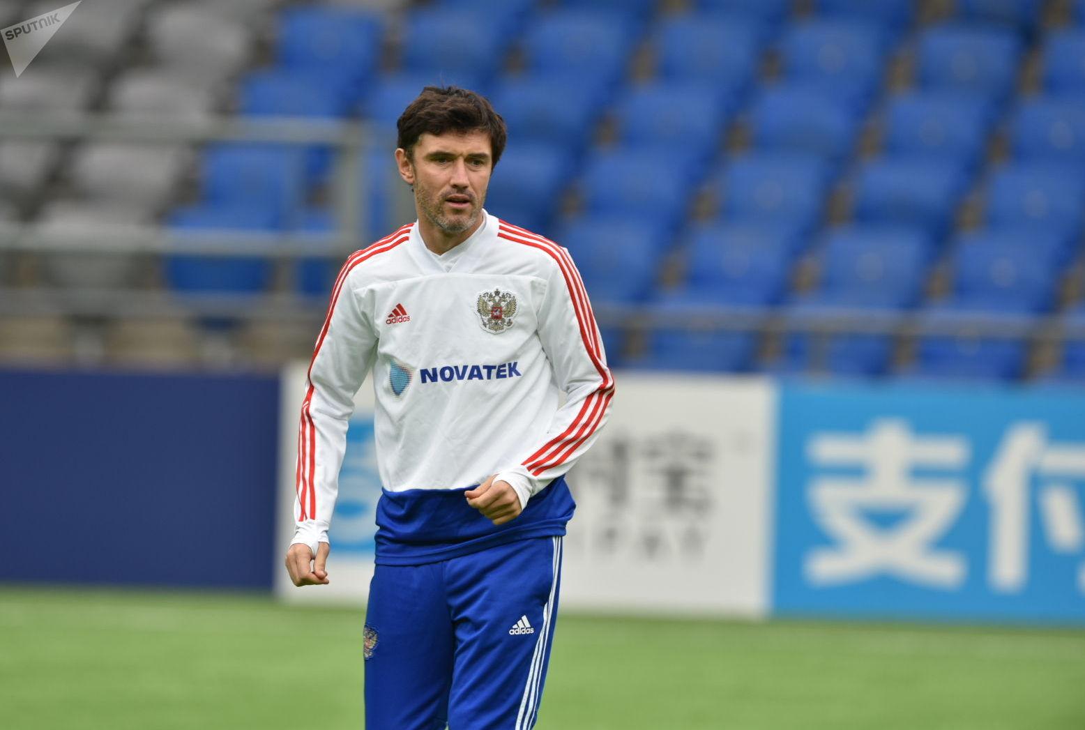 Игрок сборной России Юрий Жирков