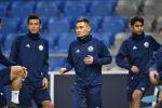 Тренировка сборной Казахстана по футболу перед матчем с Россией