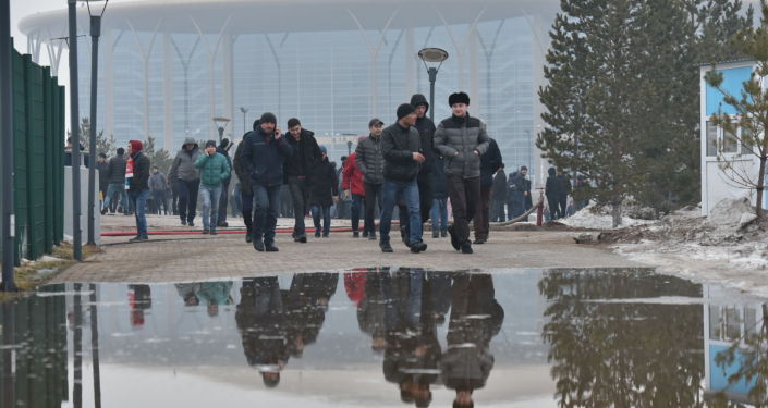 Болельщики перед матчем Казахстан-Россия