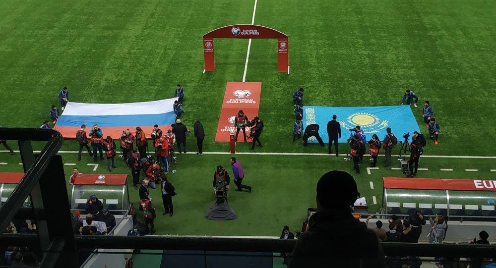 Начало матча Казахстан-Россия