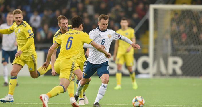 Второй тайм матча Казахстан - Россия