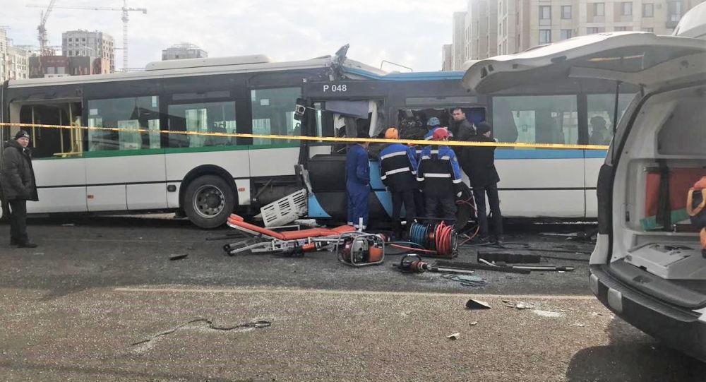 Спровоцировавший ДТП в Нур-Султане водитель автобуса погиб