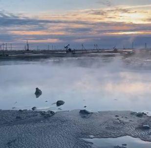 Пожар потушили на месторождении Каламкас
