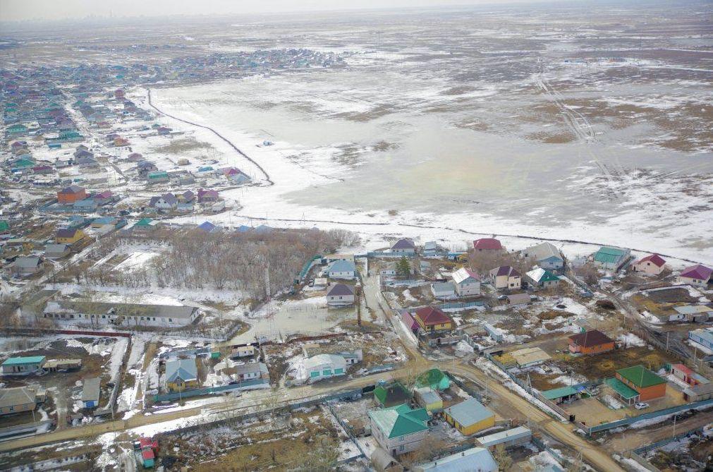 Вид с вертолета во время облета приграничных территорий города