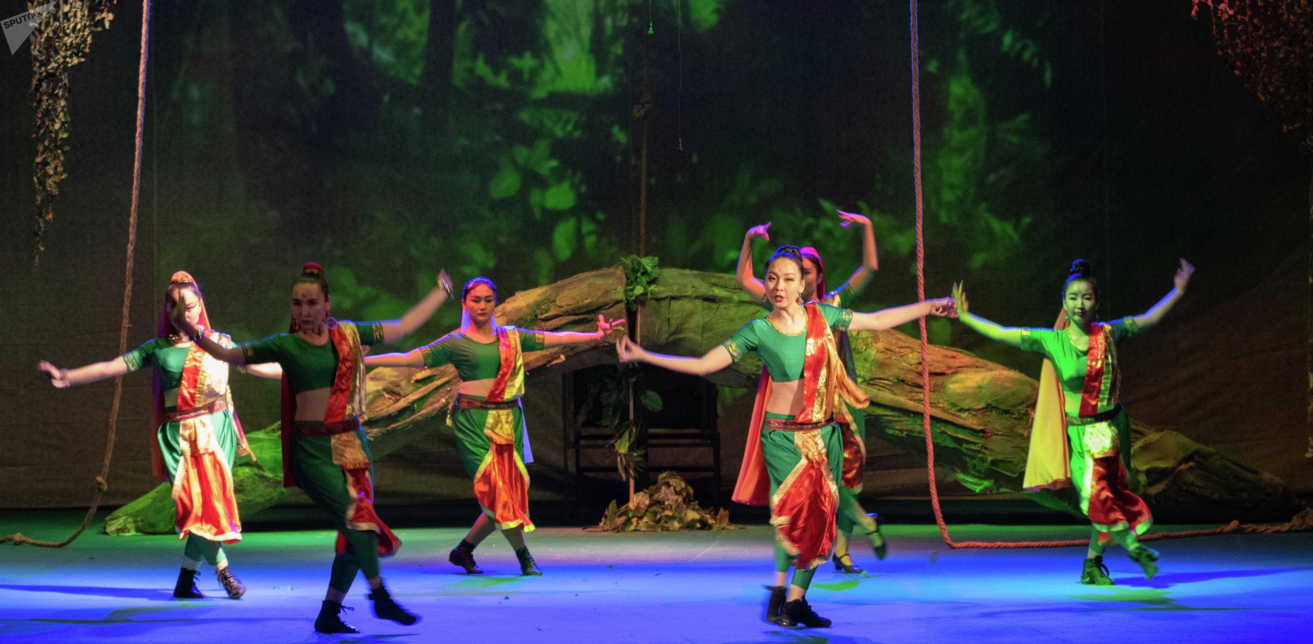Спектакль Маугли. Казахский государственный академический театр детей и юношества им. Г. Мусрепова