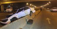 Лобовое столкновение произошло по Северному кольцу, в районе рынке Рахат