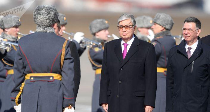 Прилет президента Казахстана  Касым-Жомарта Токаева в Москву