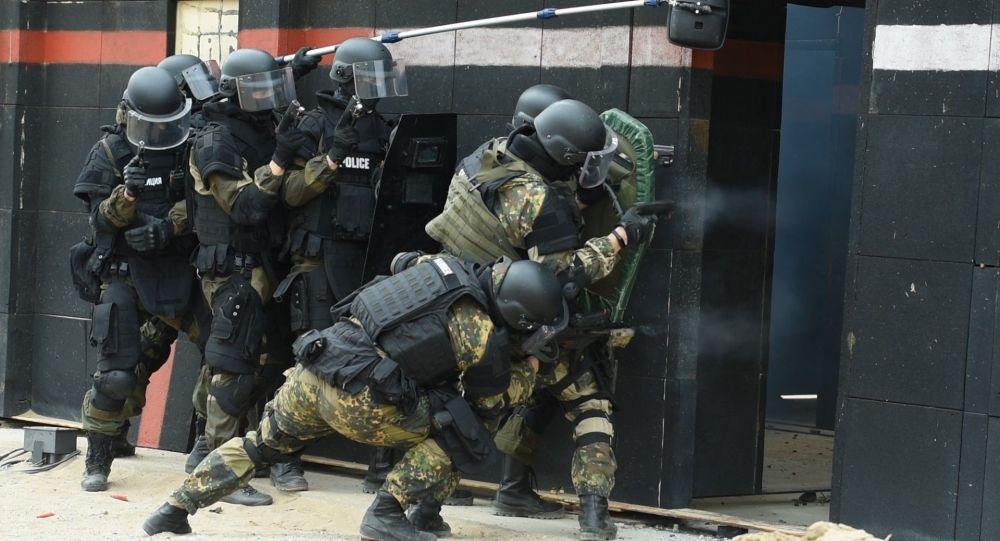 Тренировки спецподразделения МВД Казахстана Арлан