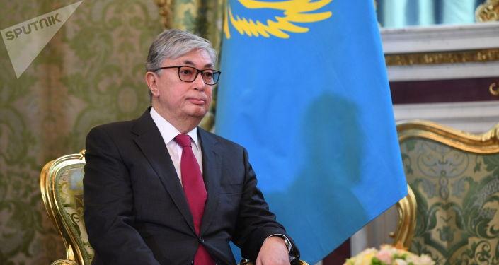 Президент Казахстана Касым-Жомарт Токаев во время визита в Москву