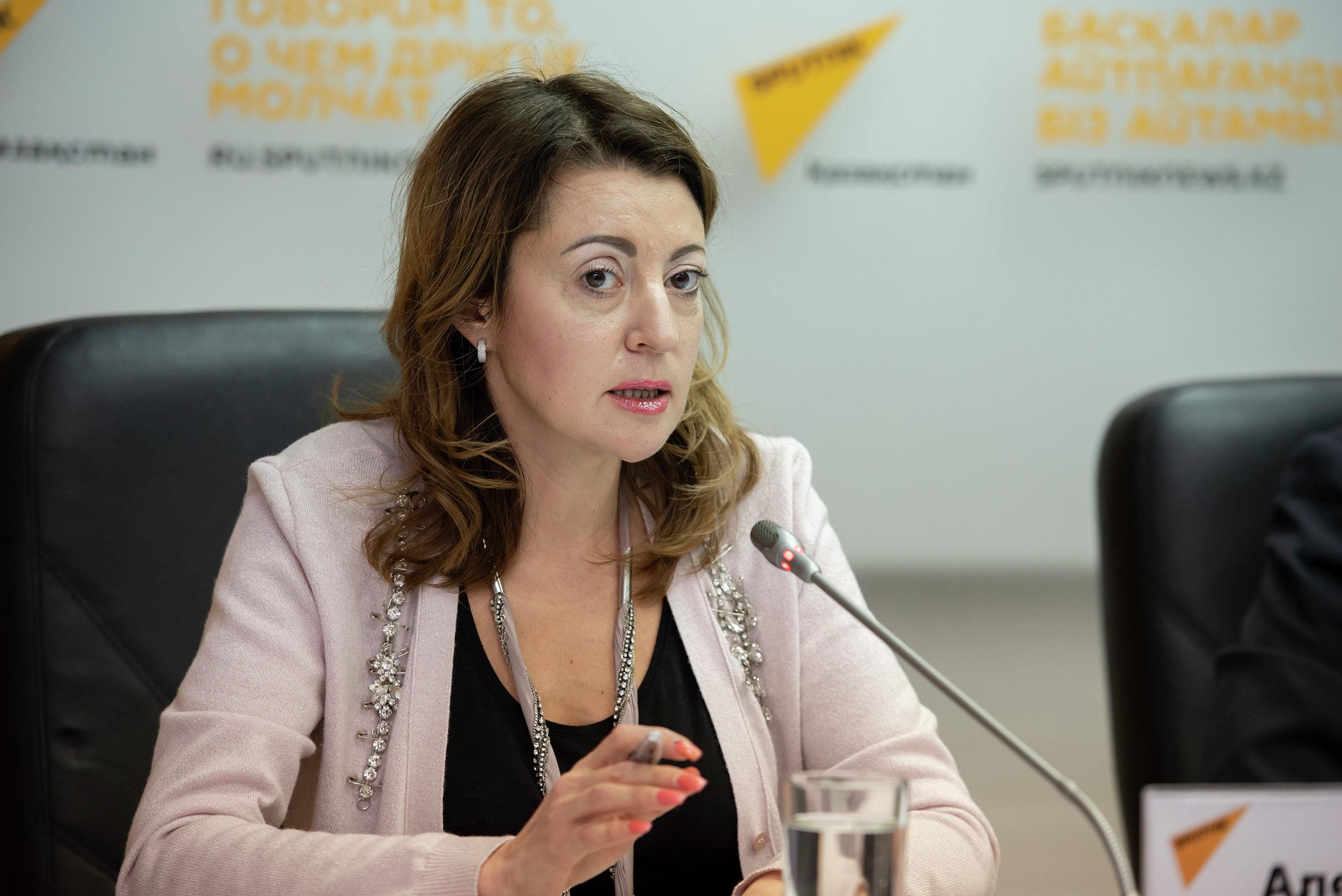 Директор национального конкурса Мисс Казахстан Алена Кырбасова