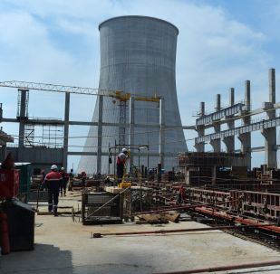 Строительство АЭС, архивное фото