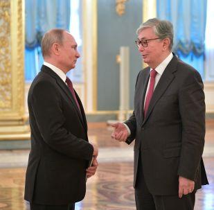 Владимир Путин мен Қасым-Жомарт Тоқаев