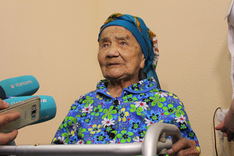 101-летняя Нурила Байтасова