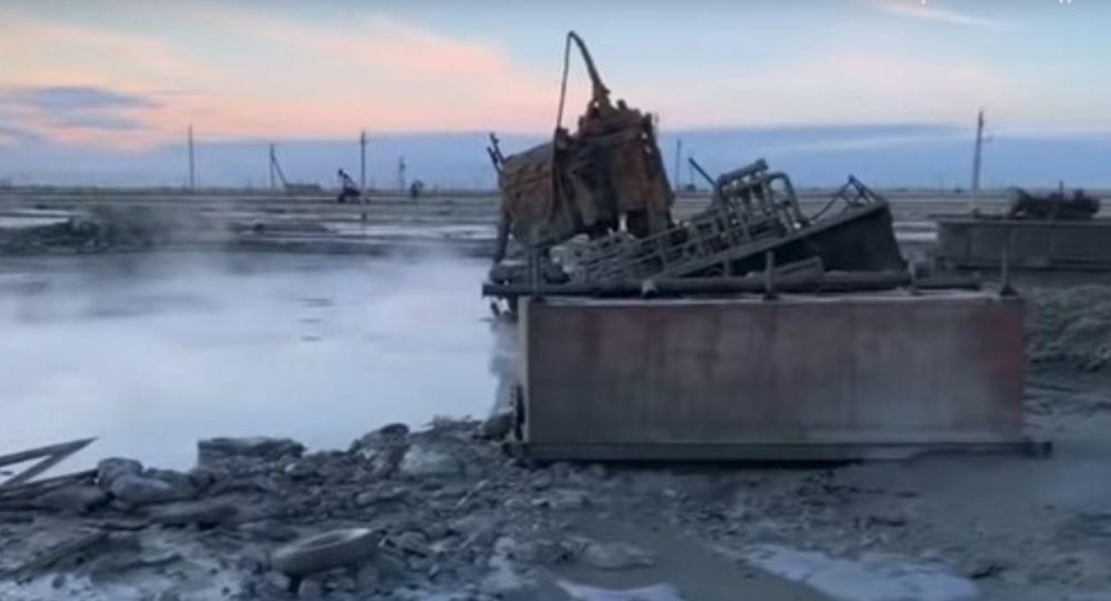 Авария на месторождении Каламкас
