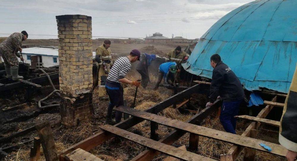 Пожар в мечети в селе Бирлик Акмолинской области
