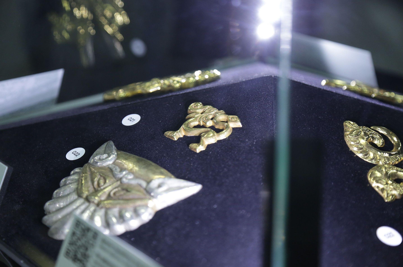 На выставке представлено 127 предметов из фондов Национального музея Республики Казахстан