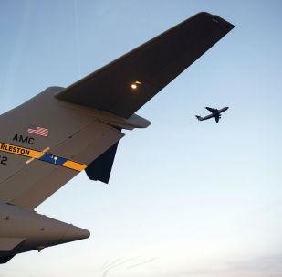 Военно-транспортный самолет Lockheed C-5 Galaxy ВВС США в Афганистане