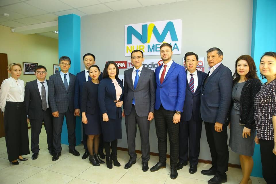 Первый заместитель председателя партии Nur Otan Маулен Ашимбаев представил новых руководителей коллективу холдинга Nur Media