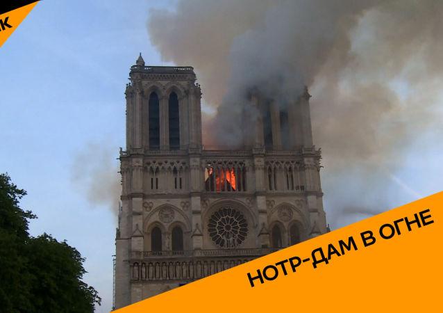 Как тушили пожар в соборе Нотр-Дам