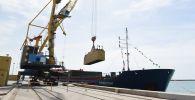 Запуск первого казахстанского фидерного судна Туркестан