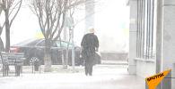 Снегопад обрушился на столицу Казахстана в середине апреля – морозное видео