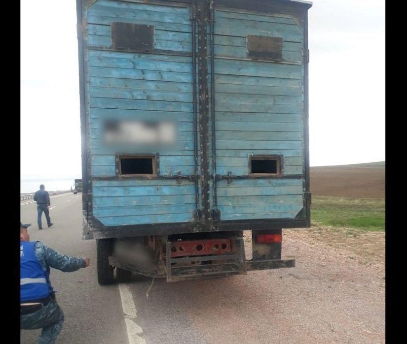 На месте аварии близ Кордая