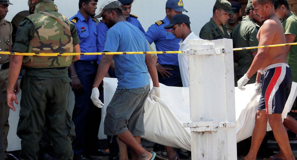 Ситуация после взрыва у храма Святого Антония, Шри- Ланка, 21 апреля 2019 года
