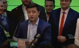 LIVE_СПУТНИК: Выступление Владимира Зеленского после оглашения предварительных результатов