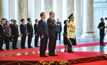 Президент Казахстана Касым-Жомарт Токаев и президент Кореи Мун Чжэ Ин во время встречи в Акорде