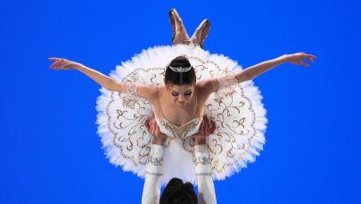 Танцовщица Московского хореографического училища Екатерина Клявлина и артист балета Большого театра Марк Чино