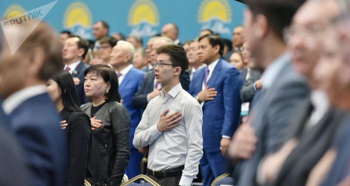Съезд партии Nur Otan