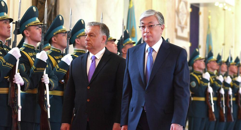 Встреча президента Казахстана с премьером Венгрии Виктором Орбаном
