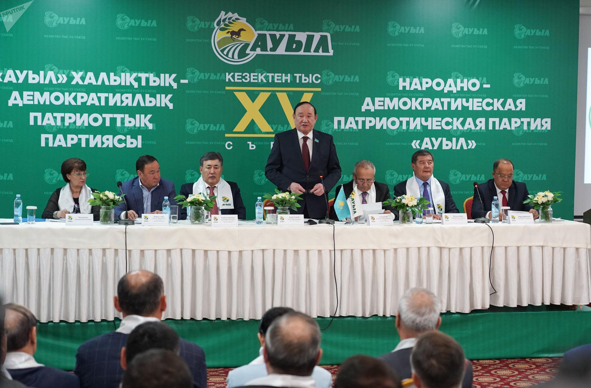 Председатель НДПП Ауыл, сенатор Али Бекетаев