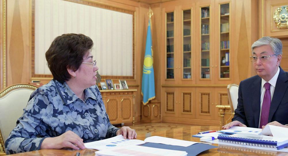 Қасым-Жомарт Тоқаев білім министрі Күләш Шәмшидинованы қабылдады