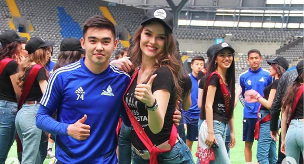 Финалистки Мисс Казахстан сыграли в футбол