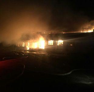 Пожар в магазине Близнецы