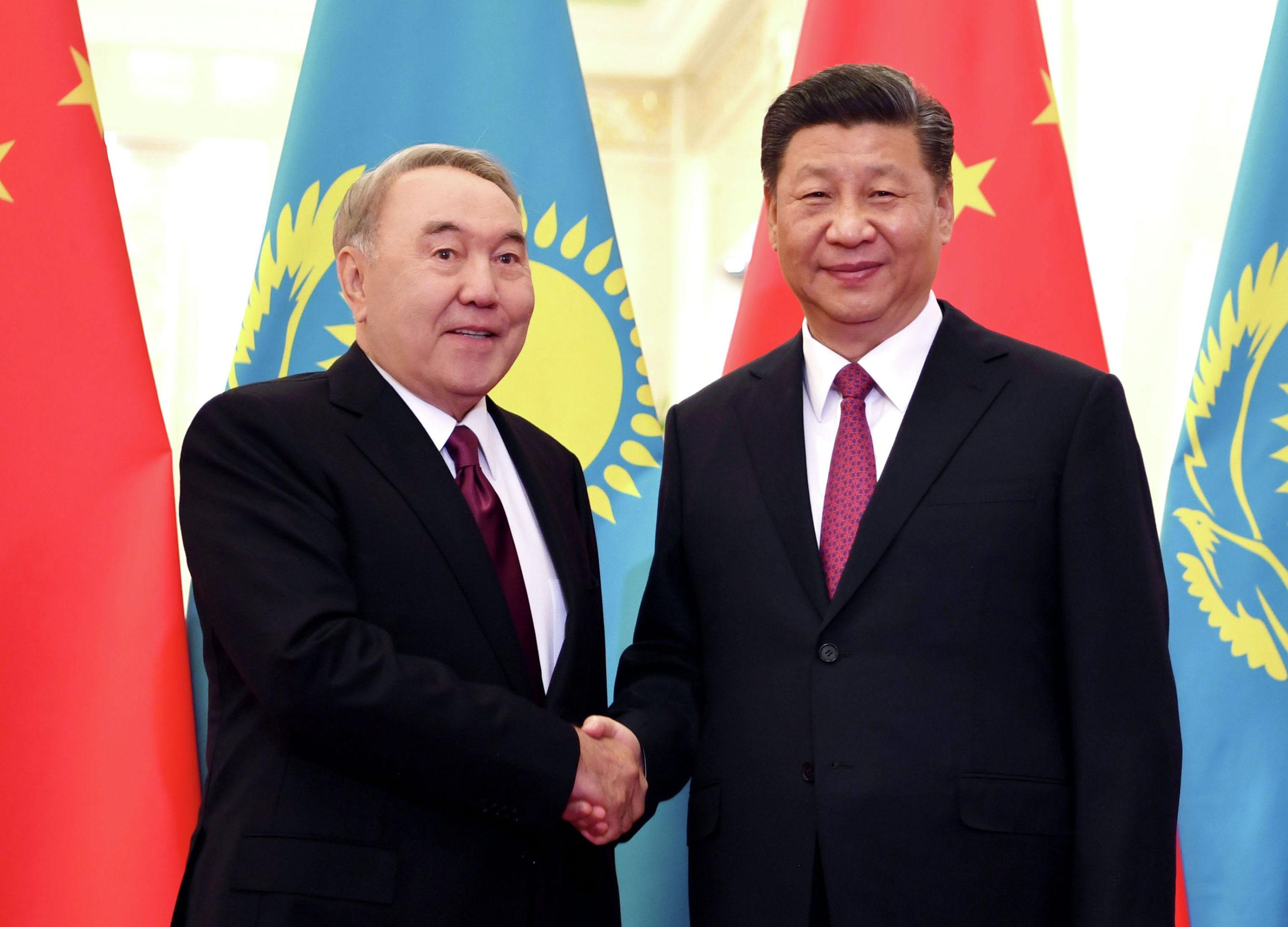 Первый Президент Казахстана Нурсултан Назарбаев встретился с председателем Китайской Народной Республики Си Цзиньпином