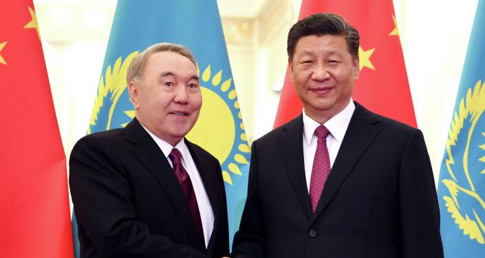 Елбасы Нурсултан Назарбаев и глава КНР Си Цзиньпин