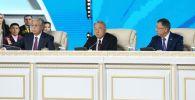 Қазақстан президенті Қасым-Жомарт Тоқаев пен Елбасы Нұрсуұлтан ҚХА сессиясында