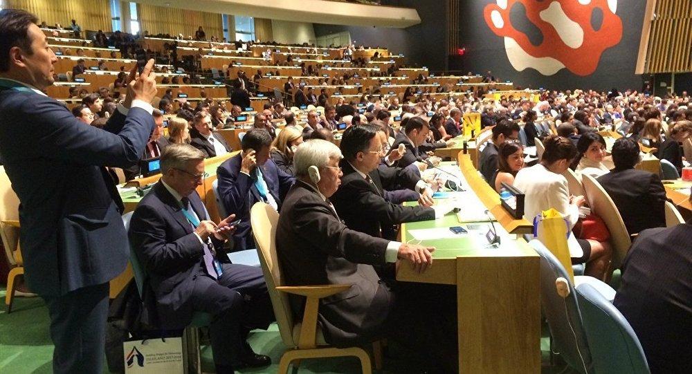 Представители Казахстана на заседании Генассамблеи ООН