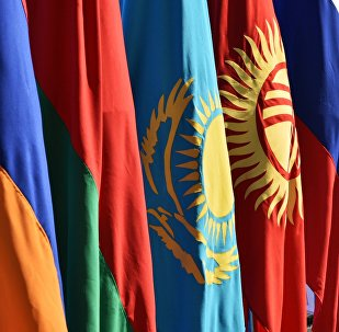 Архивное фото флагов стран-участниц Евразийского экономического союза (ЕАЭС)