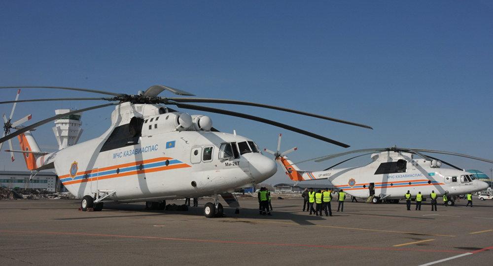 Авиация комитета по чрезвычайным ситуациям МВД РК