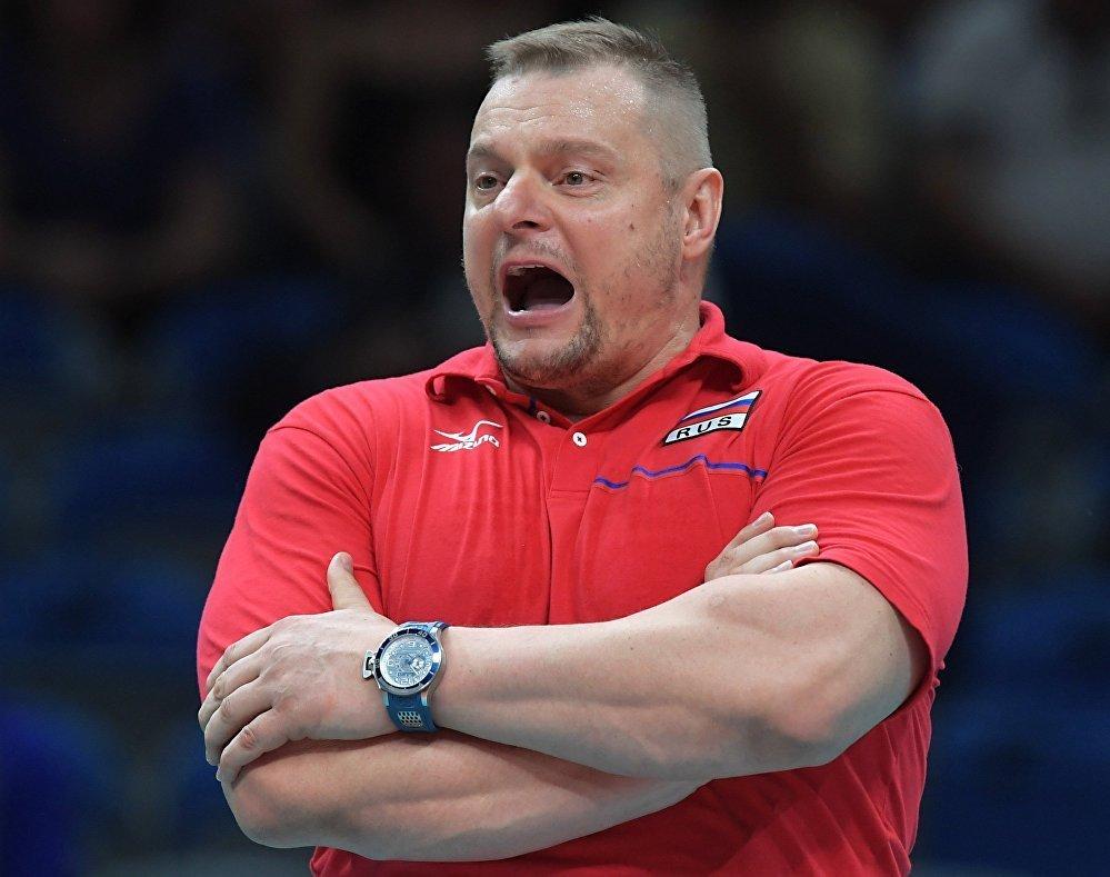 Главный тренер сборной России Владимир Алекно