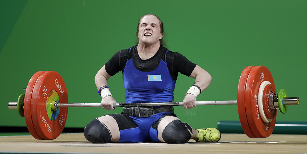Карина Горичева. Казахстанская тяжелоатлетка.