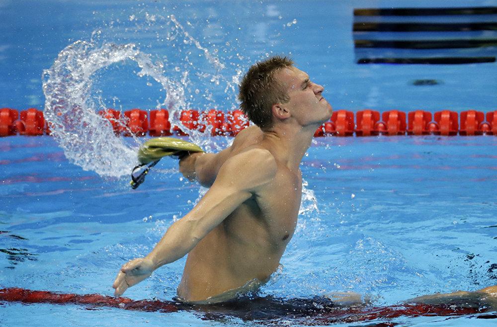 Казахстанский пловец Дмитрий Баландин
