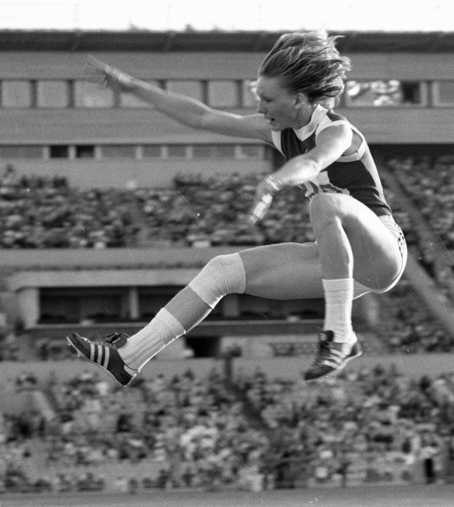 Олимпийская чемпионка в прыжках в длину среди женщин Татьяна Колпакова.