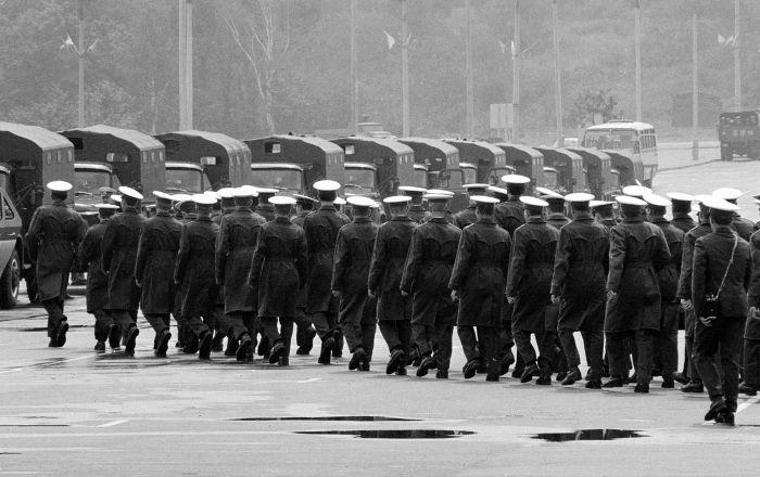 Советские милиционеры во время работы на Олимпийских играх 1980-го года