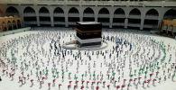 Паломники в Мекке во время хаджа