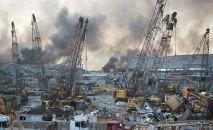 Последствия мощного взрыва в Бейруте